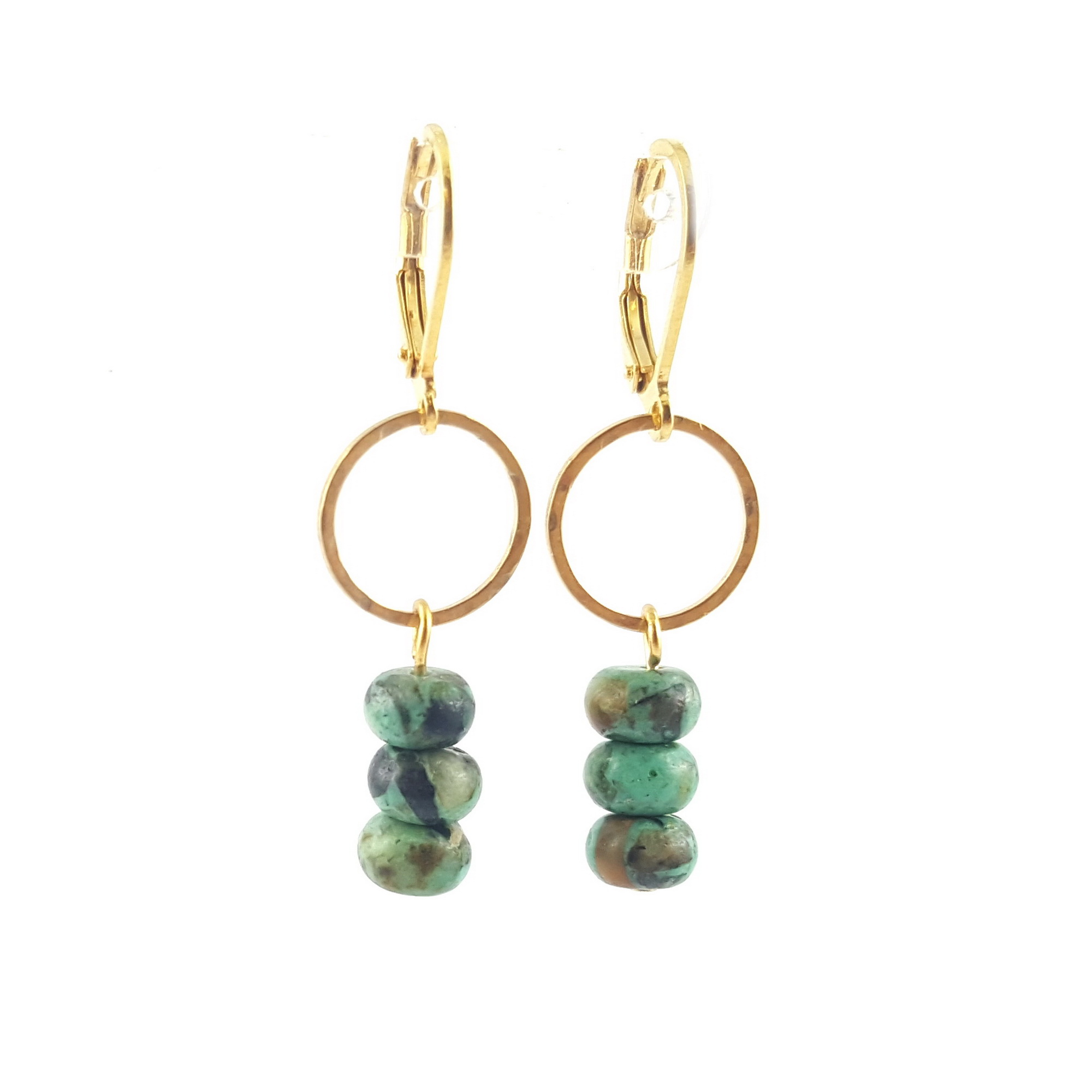 boucles cercle et turquoise africaine