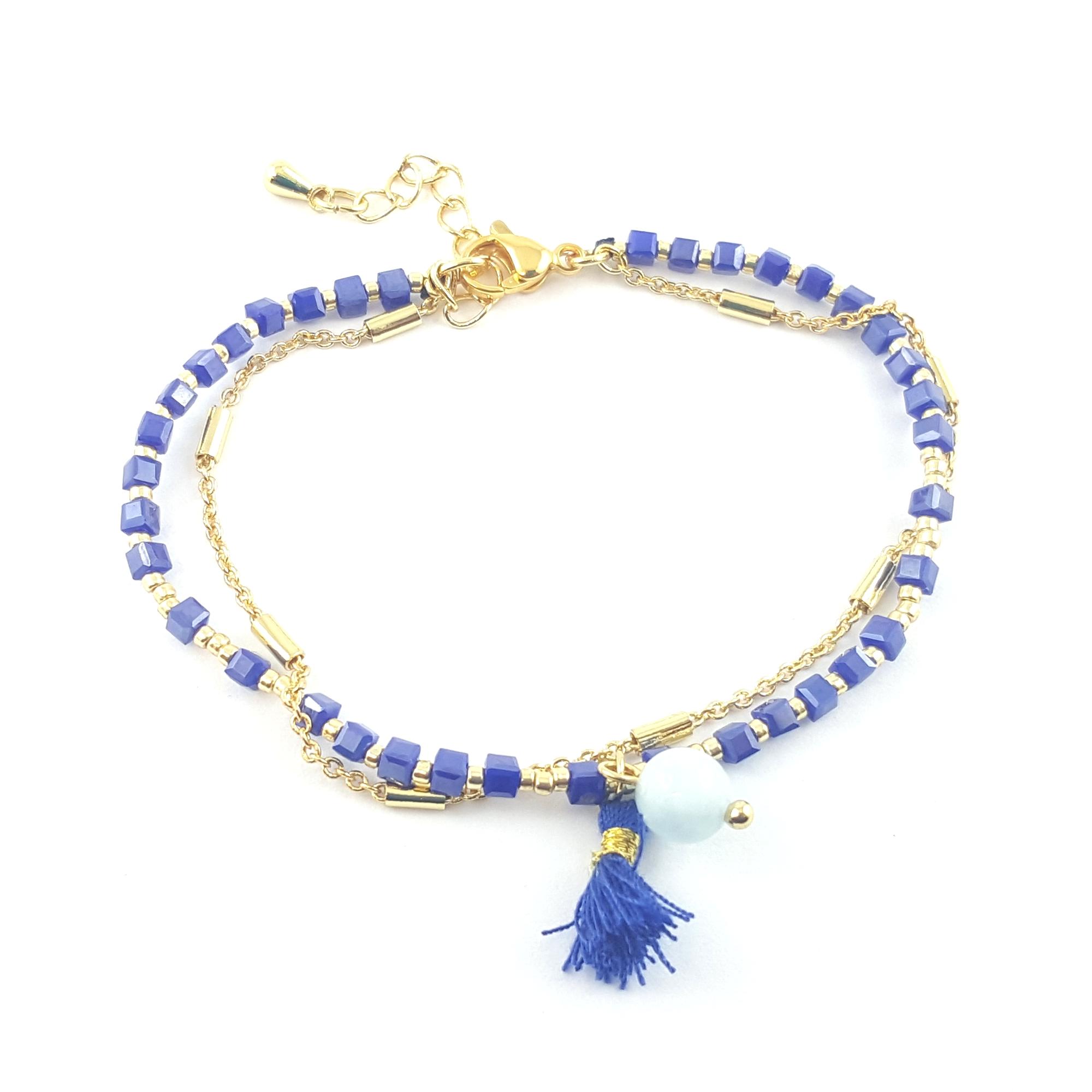 bracelet double rang océan - identites bijoux